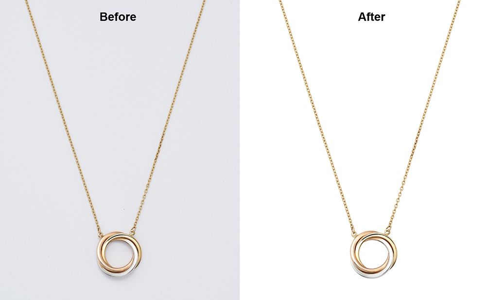 Jewelry clipping path services